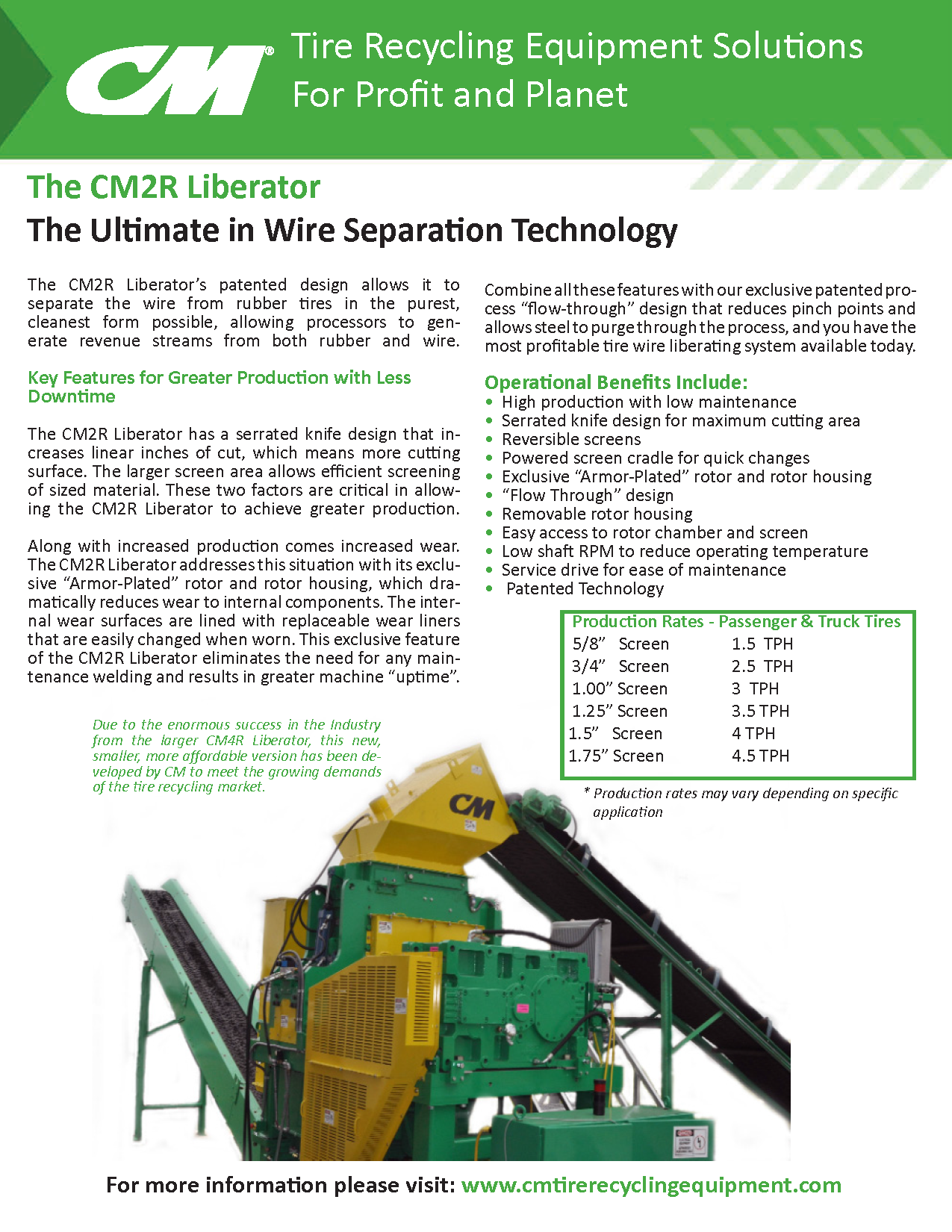 Learn more by viewing The CM2R Liberator Brochure.