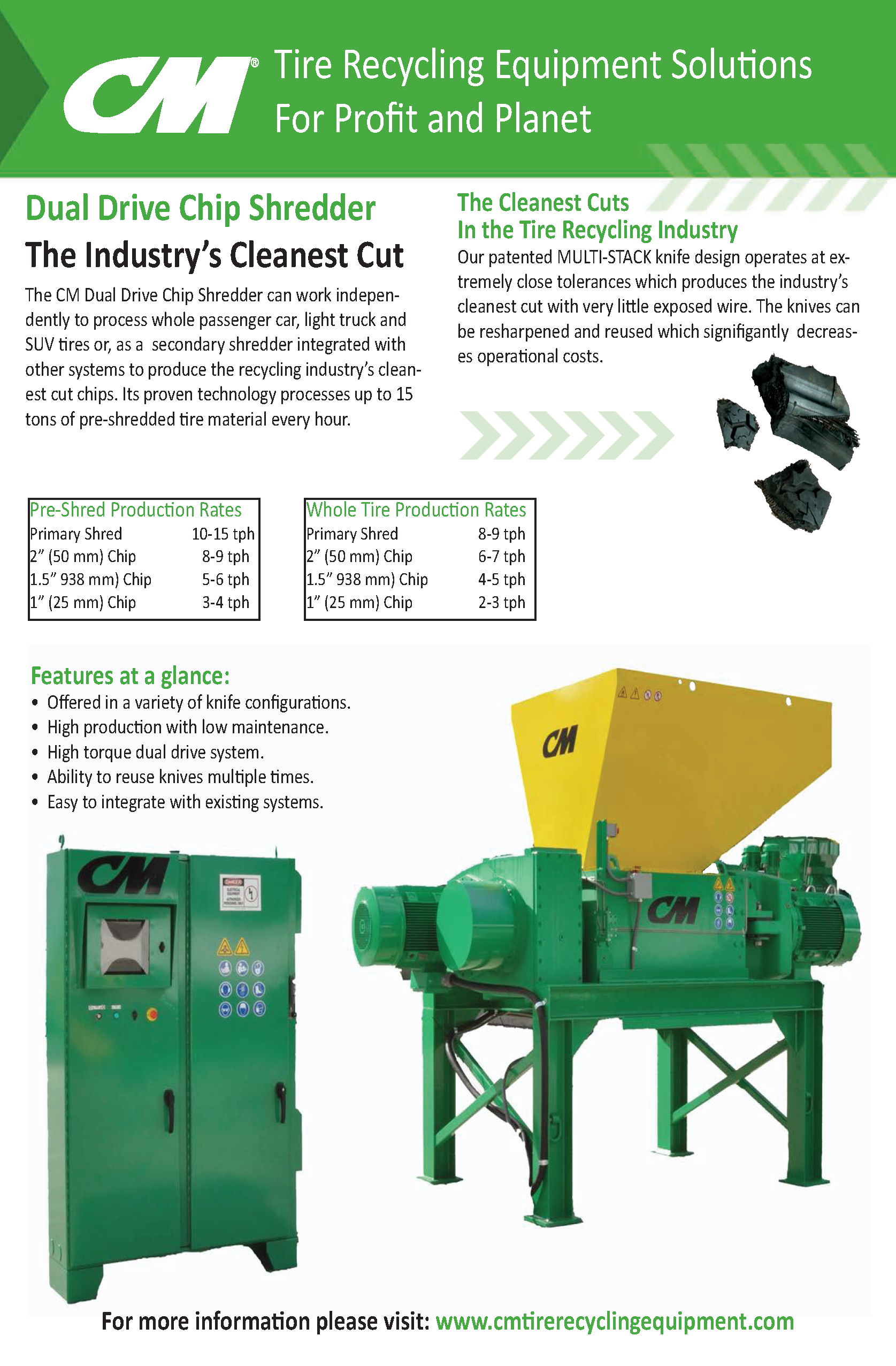 Learn more by viewing the CM Dual Drive Chip Shredder Brochure.