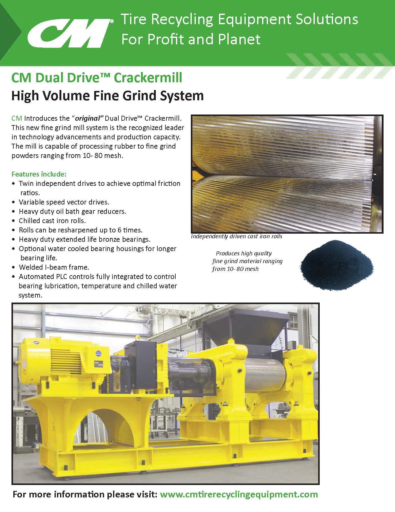 Learn more by viewing the CM Dual Drive Crackermill Brochure.