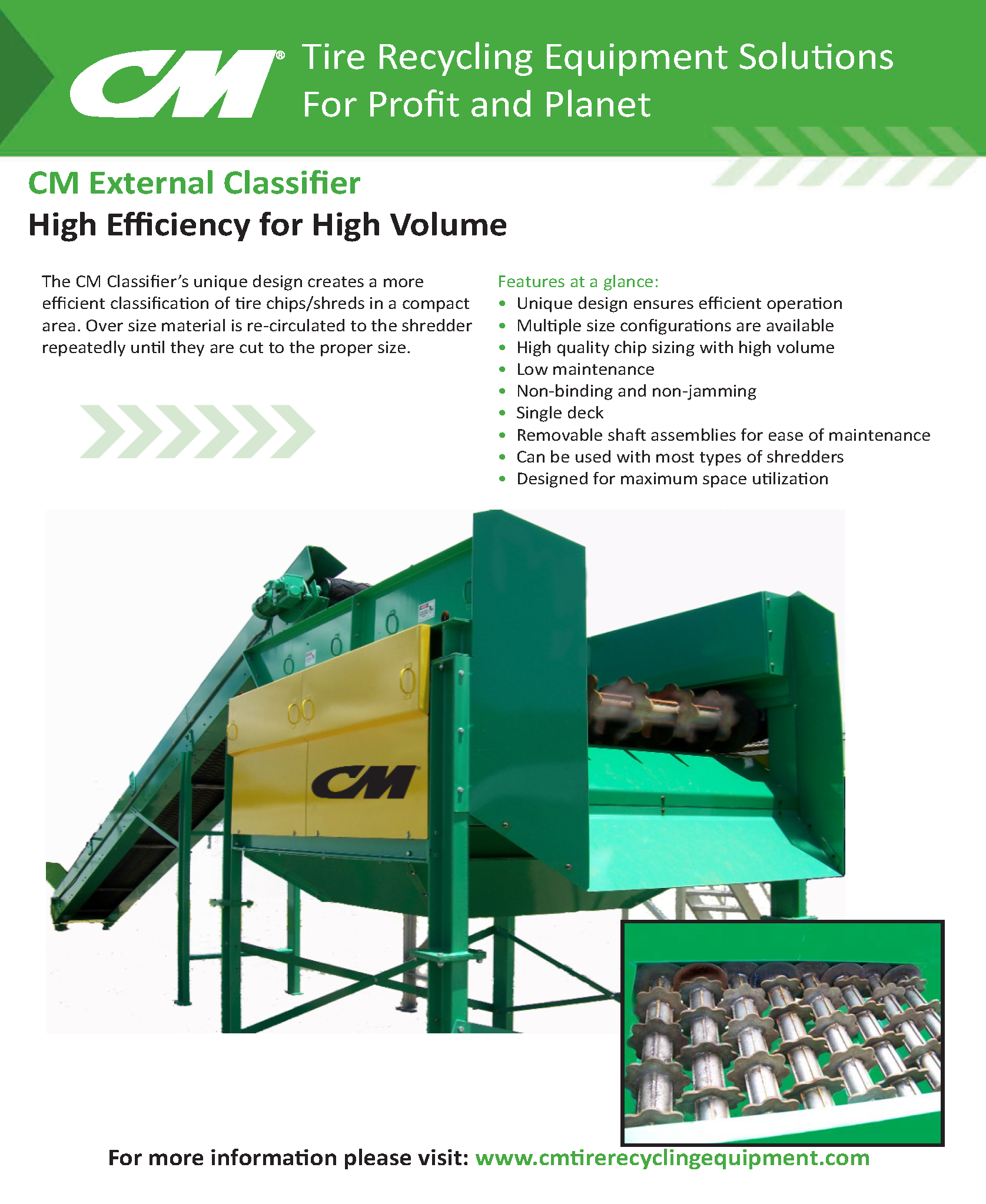 Learn more by viewing the CM External Classifier Brochure