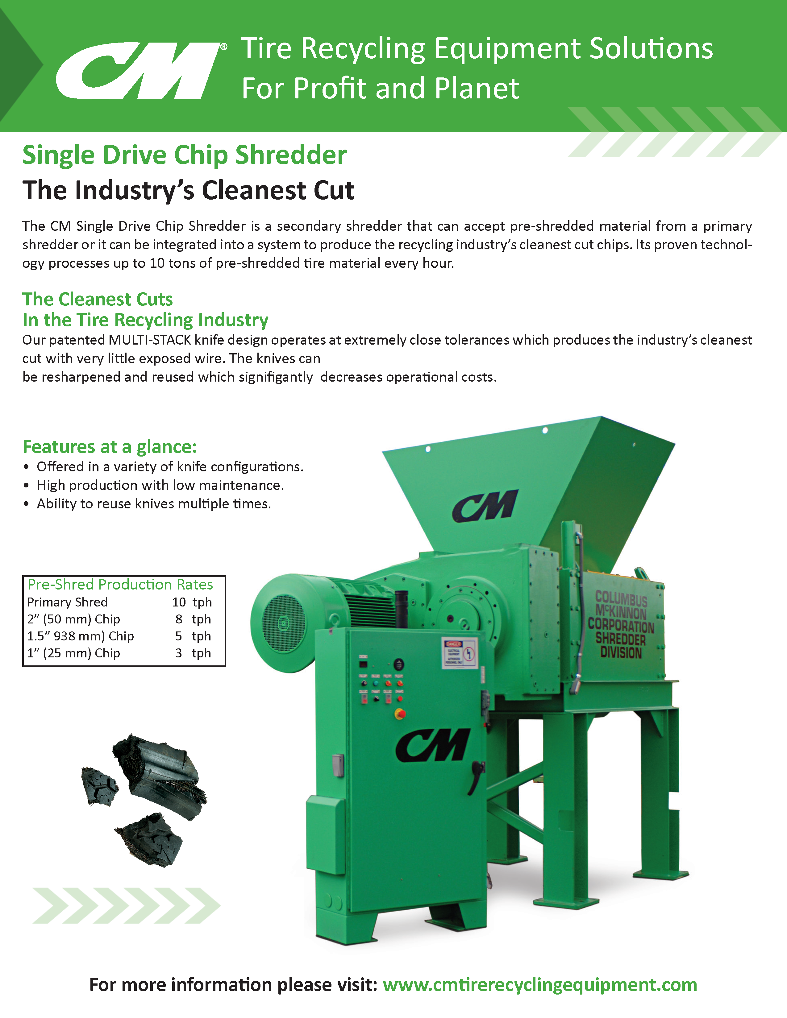 Learn more by viewing the CM Single Drive Chip Shredder Brochure