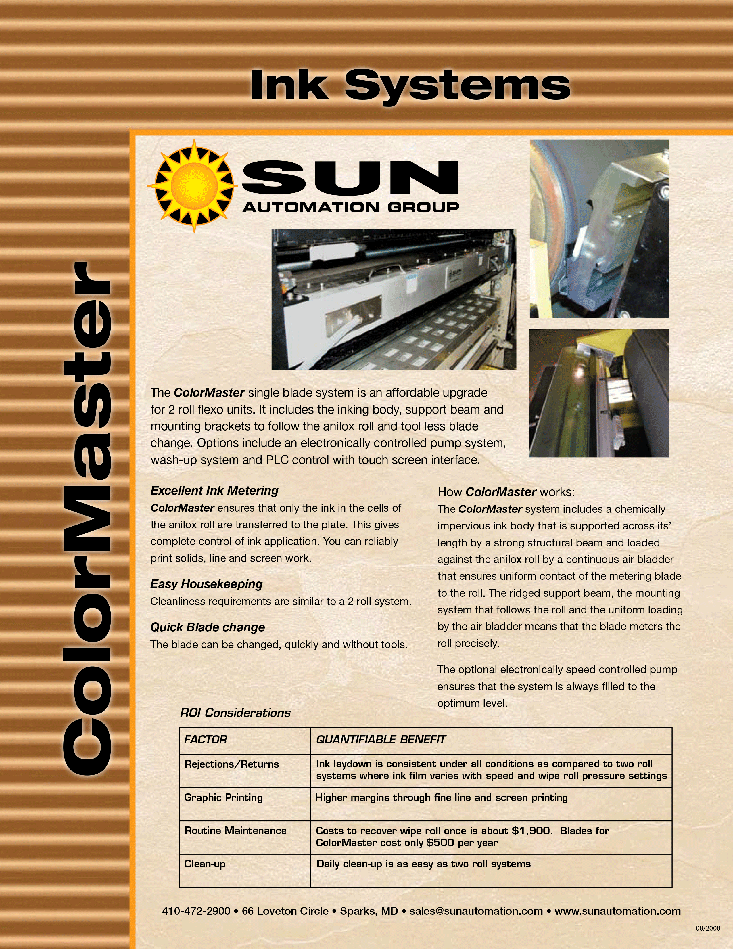 Learn more about Sun Automation's ColorMaster Single Blade System in their brochure.