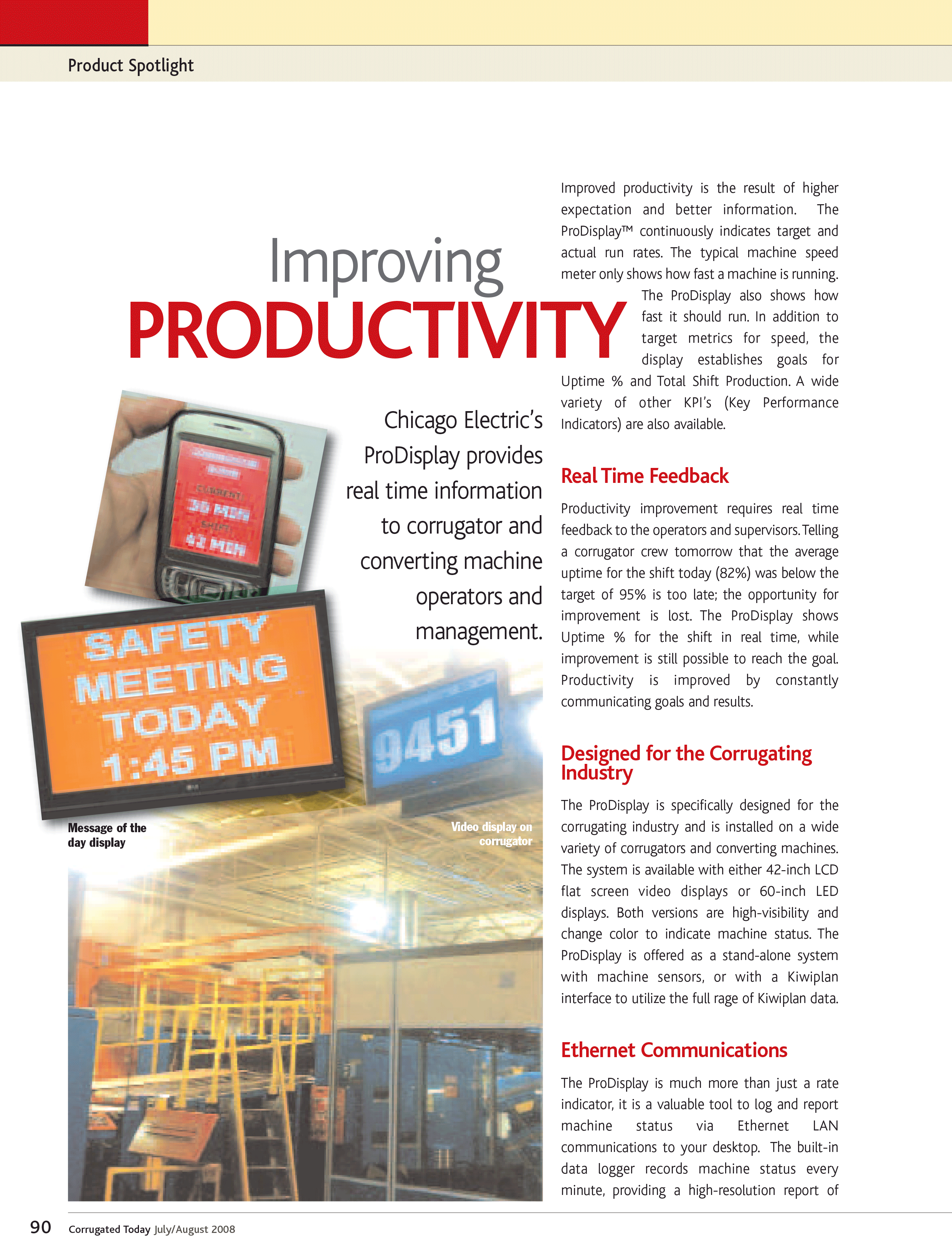 ProDisplay Highlighted in Corrugated Today Magazine