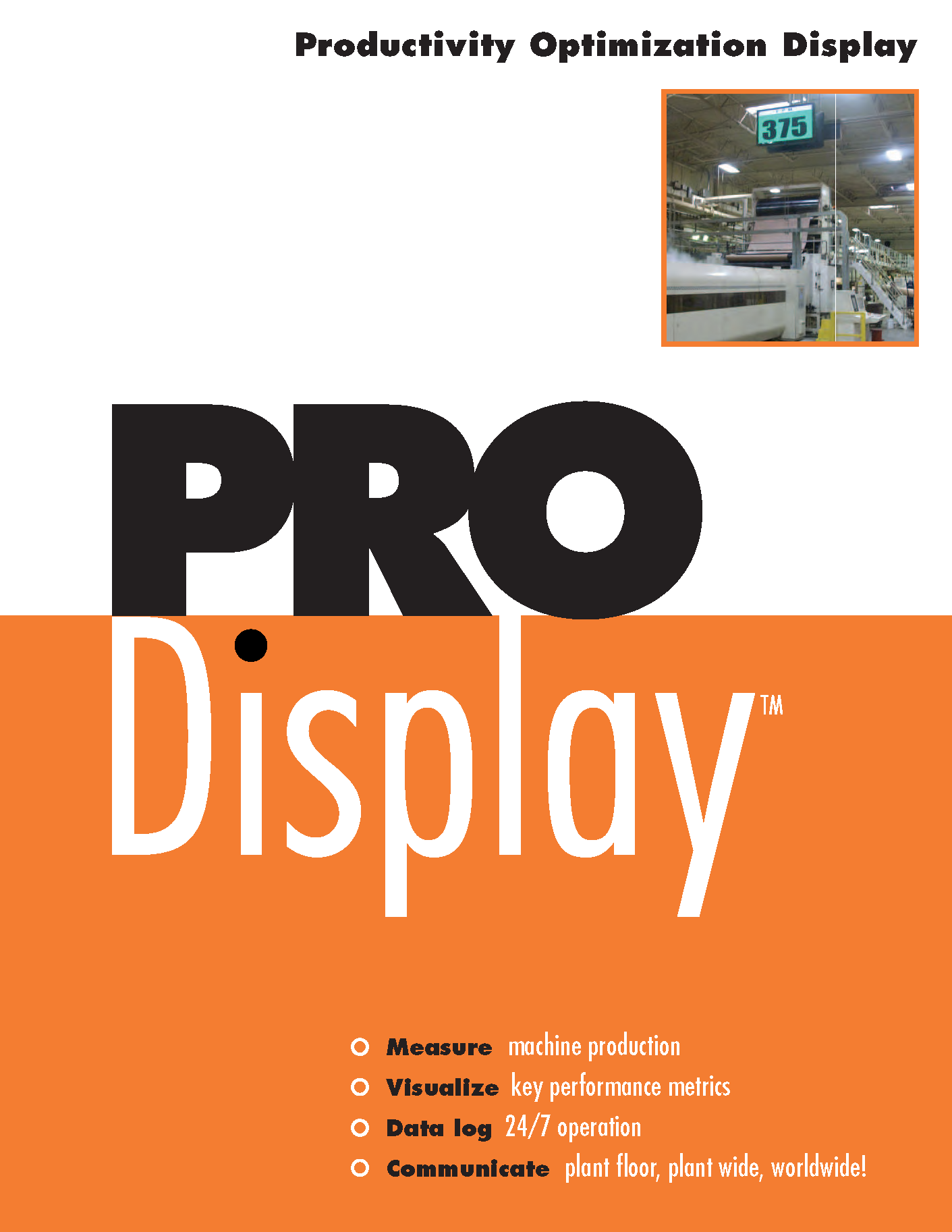 Learn more about the Productivity Optimization Display by Chicago Electric in their brochure.