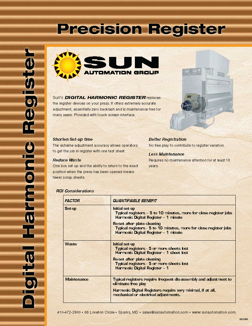 Learn more about Digital Harmonic Registers in the Sun Automation brochure.