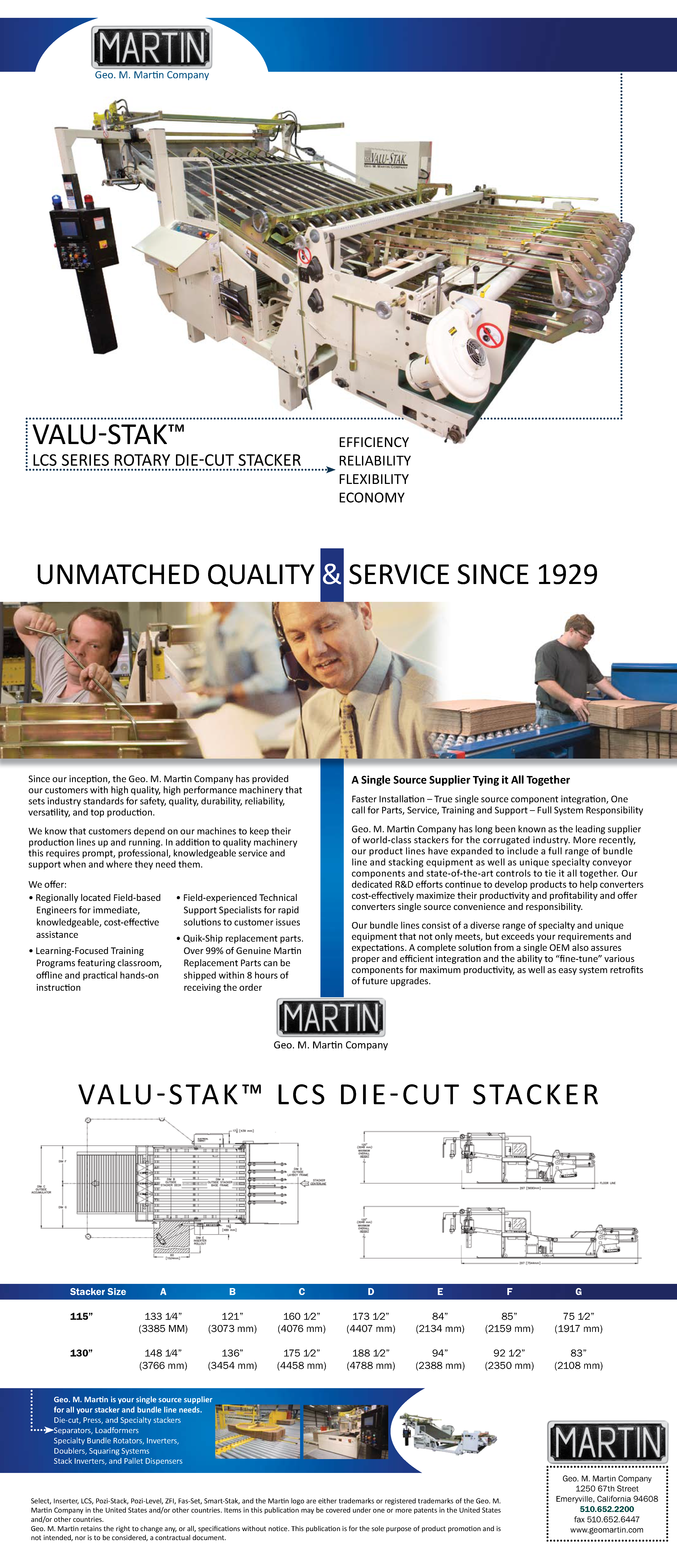 Learn more about the Valu-Stak LCS Rotary Die Cutter Stacker in the Geo. M. Martin brochure!