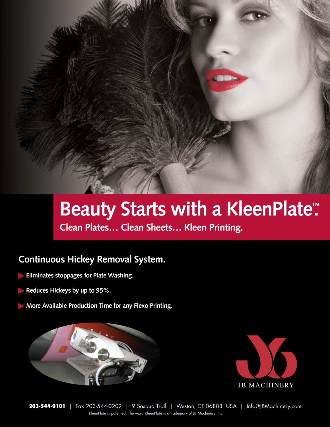 Learn more by viewing the JB Machinery KleenPlate Brochure