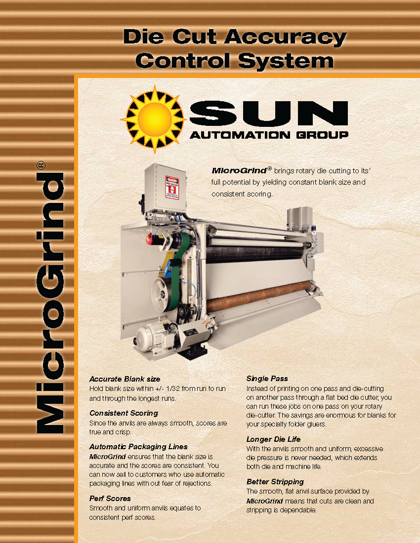 Learn more about the MicroGrind in the Sun Automation Group brochure