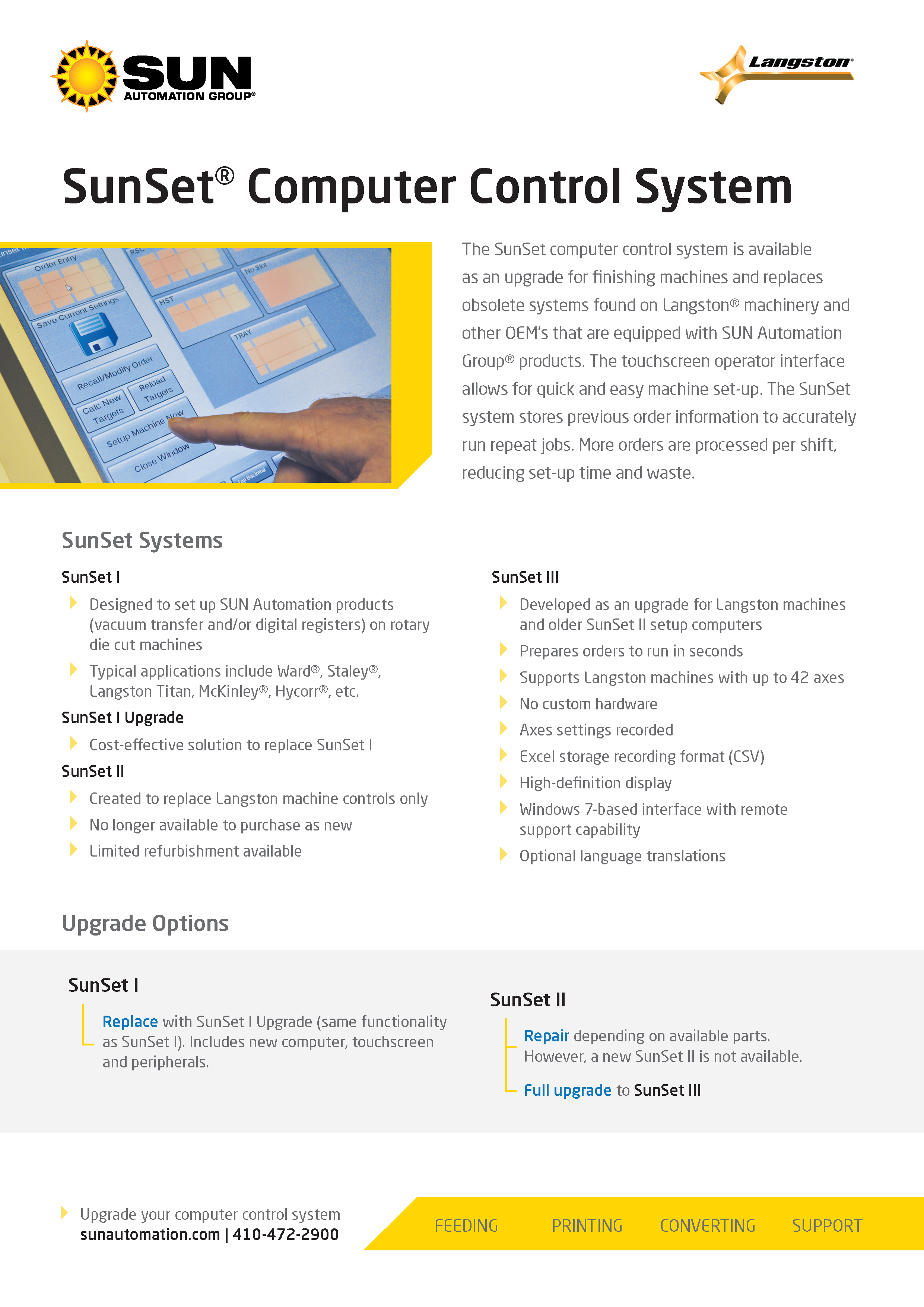 Learn more about Sun Automation Group's SunSet Computer Control System in their brochure.