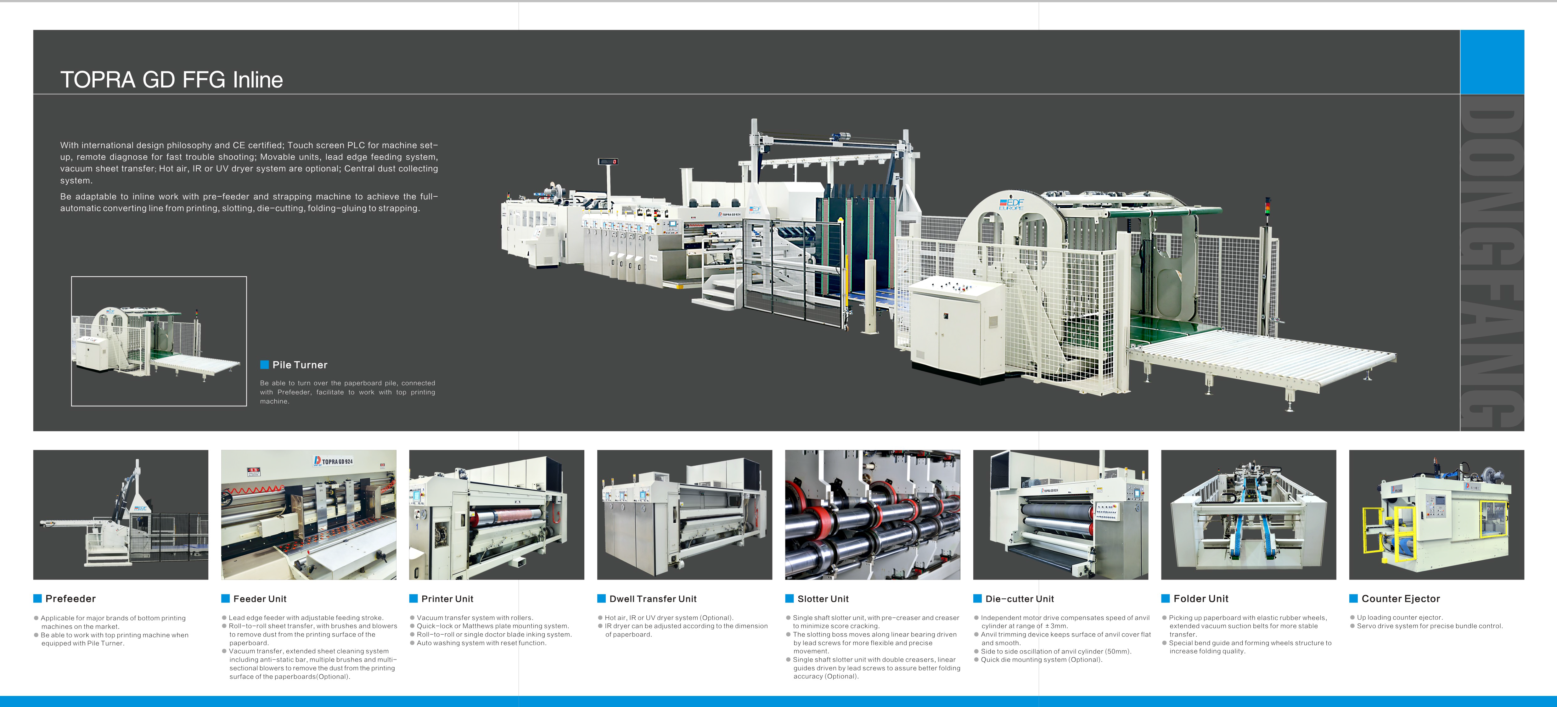 Learn more about the Topra GD Flexo Folder Gluer in the Dong Fang brochure.