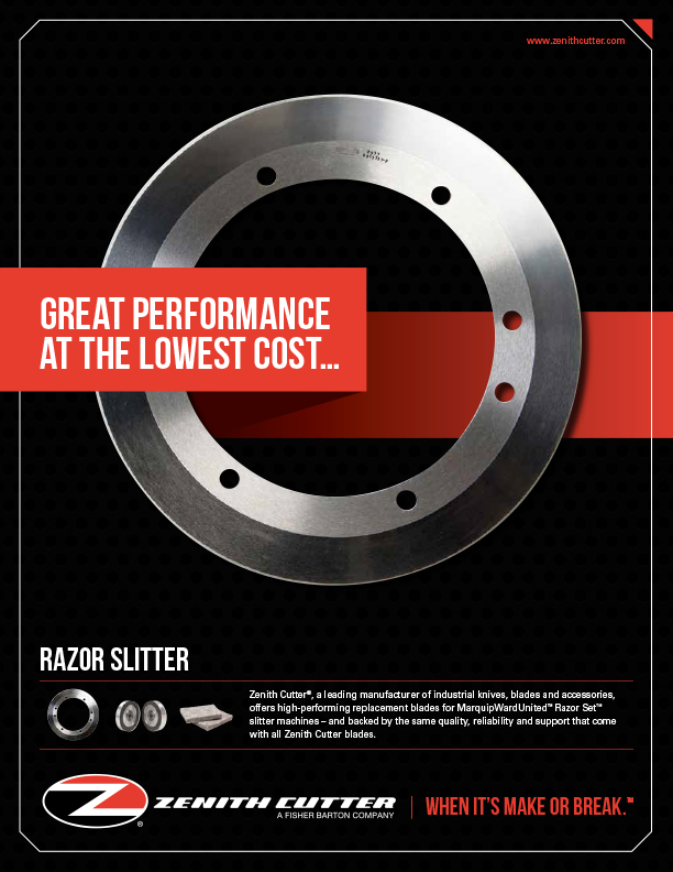 Read more about Slitters in the Zenith Cutter brochure