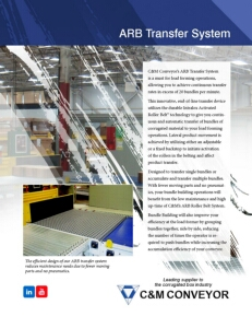 C & M  Conveyor - ARB Transfer System Brochure