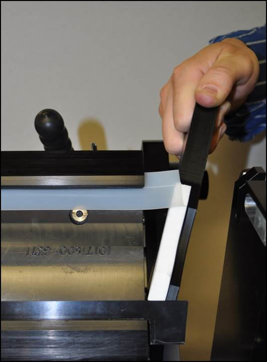 Shown is the tool-less end seal of the AccuPrint
