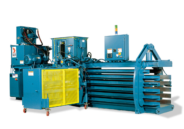 Shown: American Baler - PAC Series Baler for Shredded Material and Die Cut Scrap