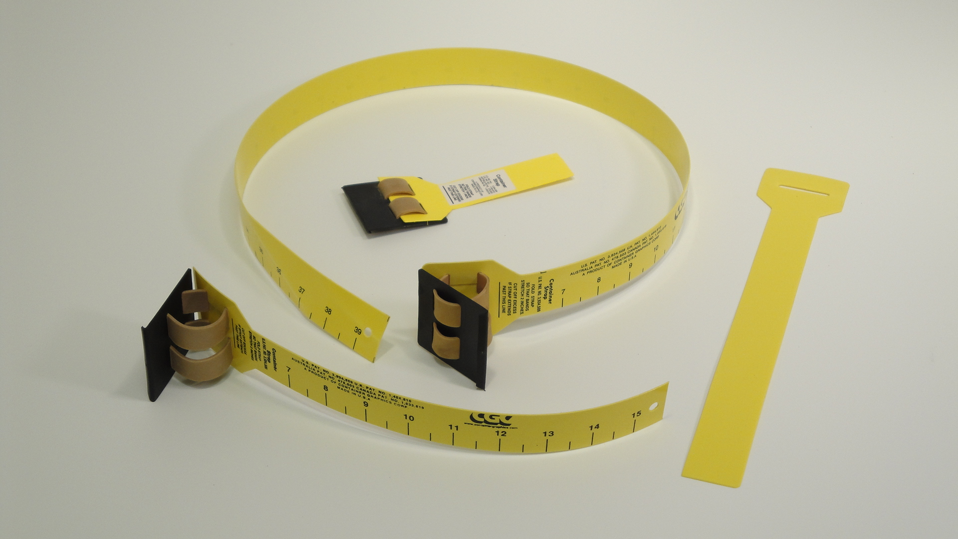 Container-Straps® metal-free plate mounting straps