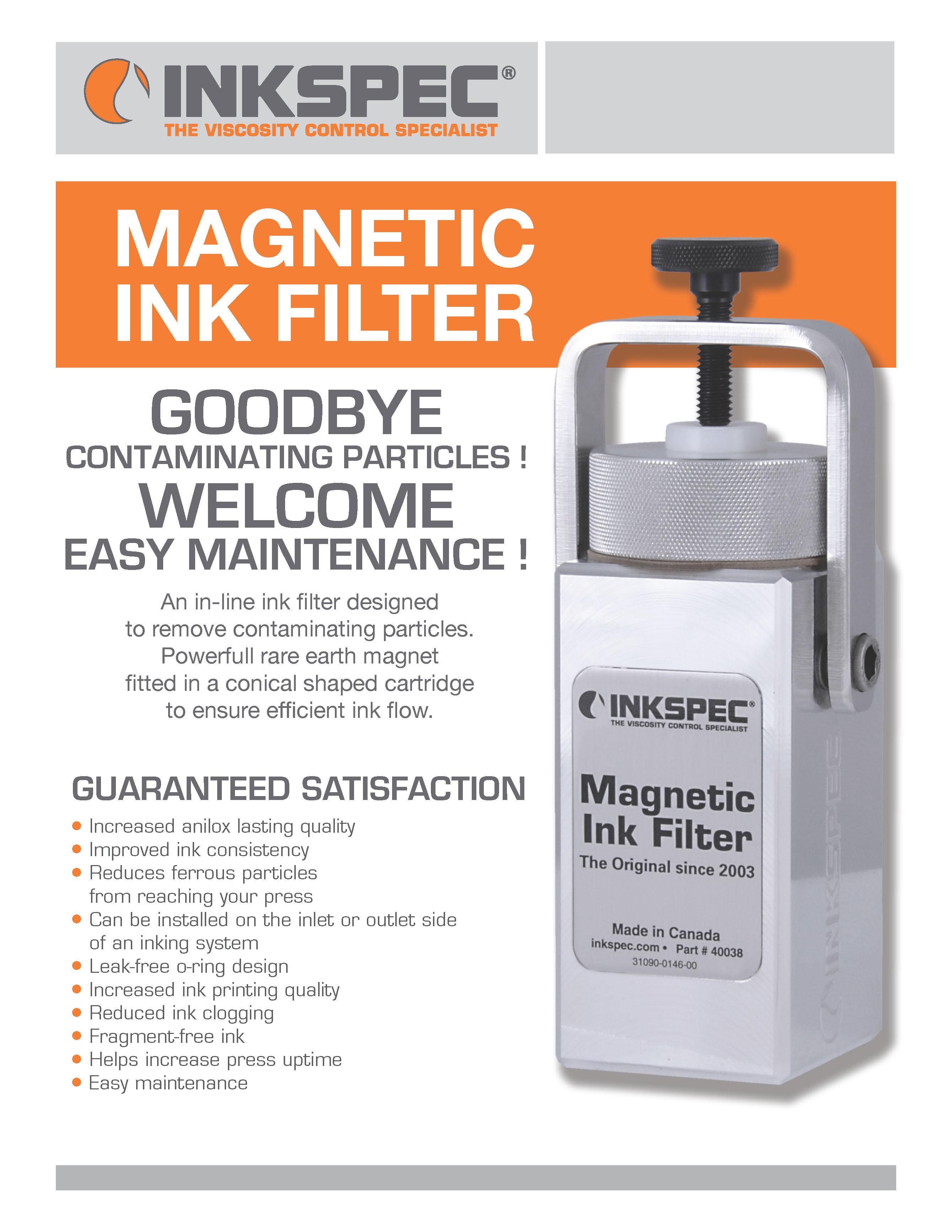 InkSpec Magnetic Ink Filter Brochure