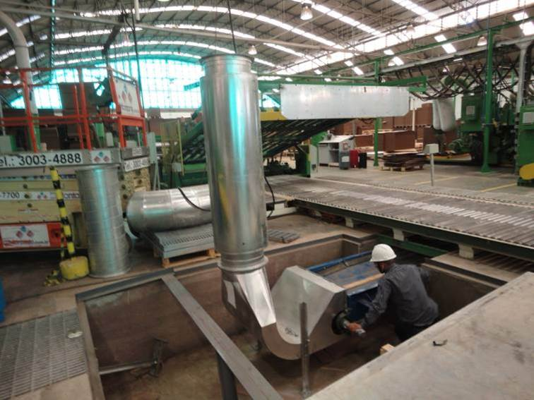 Shown is KWS Pit Conveyor Installed