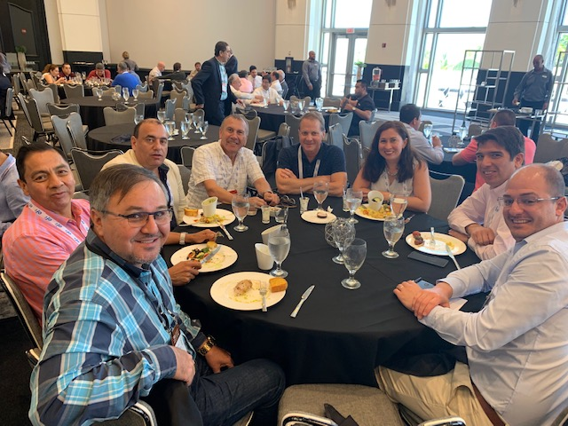 ACCCSA 2019 - Goettsch Enjoying Lunch with Customers