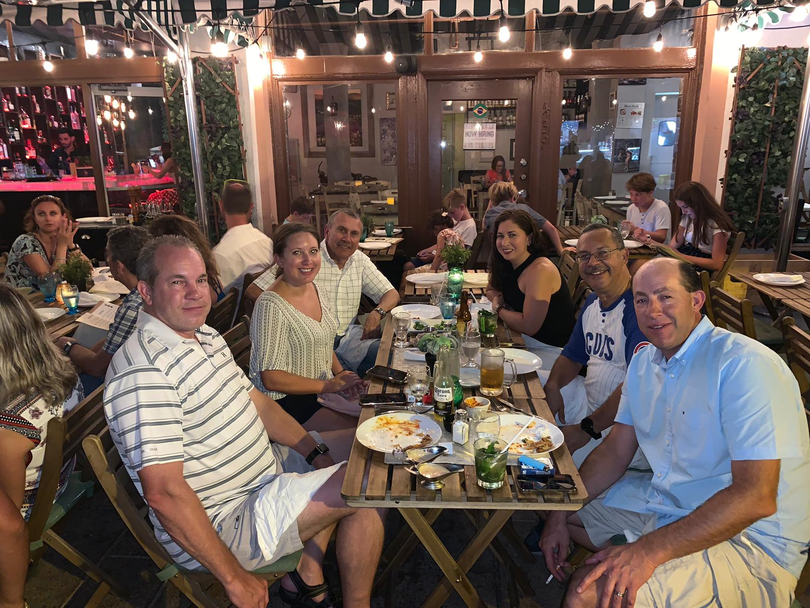 Some of the Goettsch Team Enjoying Dinner in Miami Beach