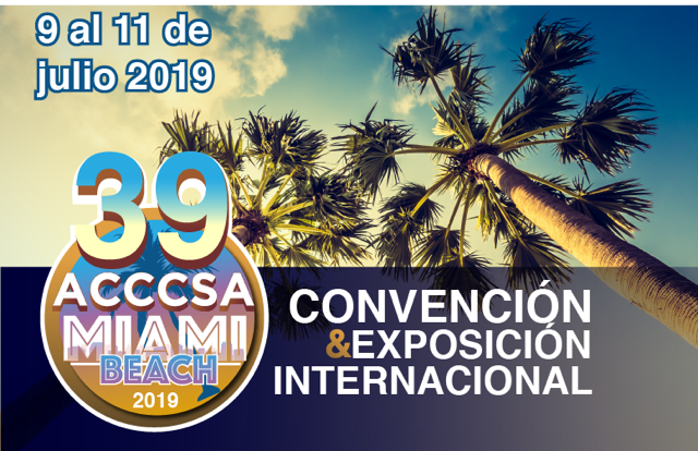 ACCCSA 2019 Logo, Miami Beach Florida