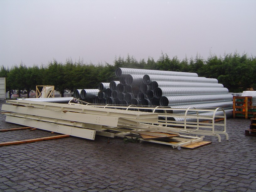 Midsouth Pre-Installation Materials – Spiral Pipes and Upper Cyclone Parts