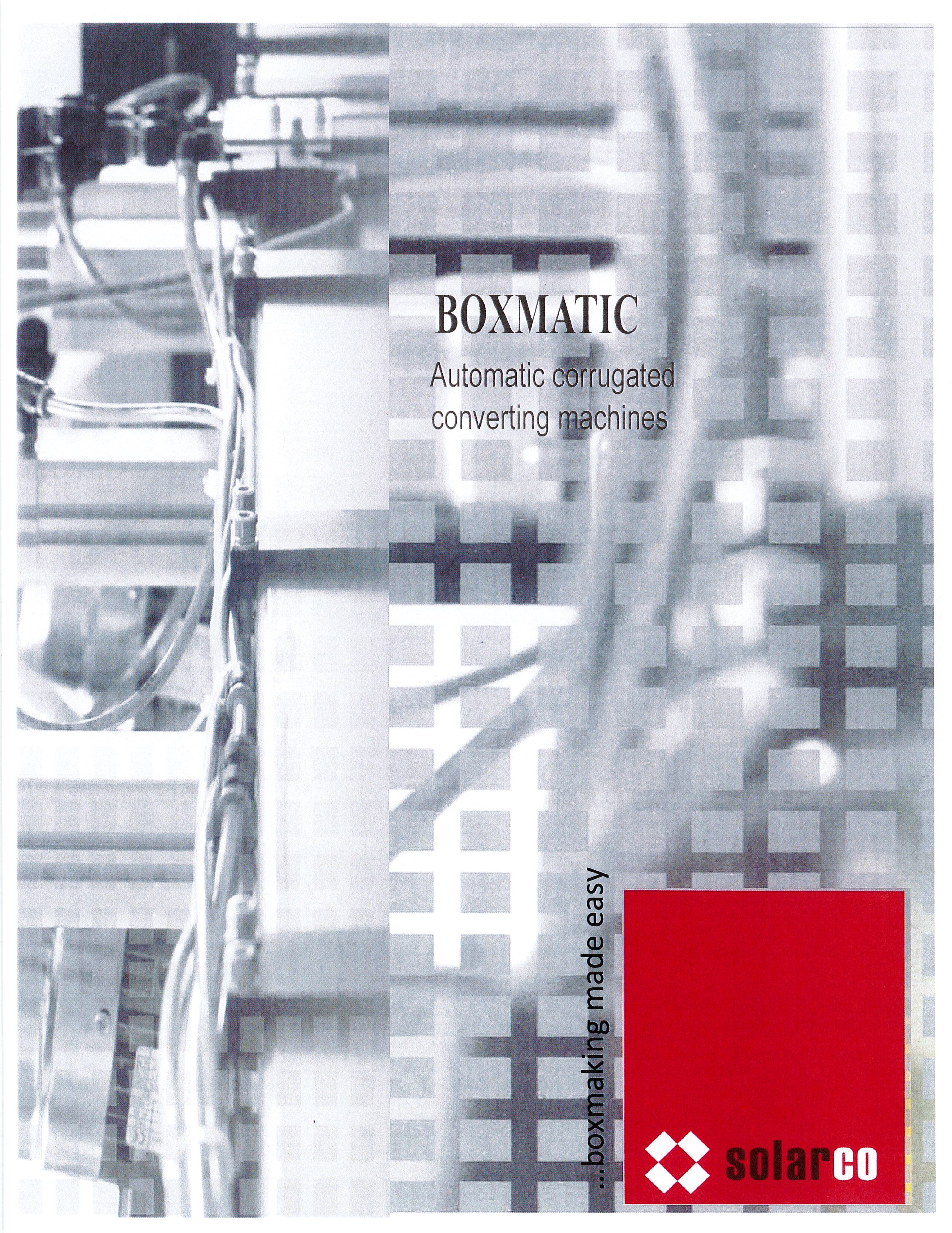Learn more in the Solarco BOXMATIC Automatic Brochure