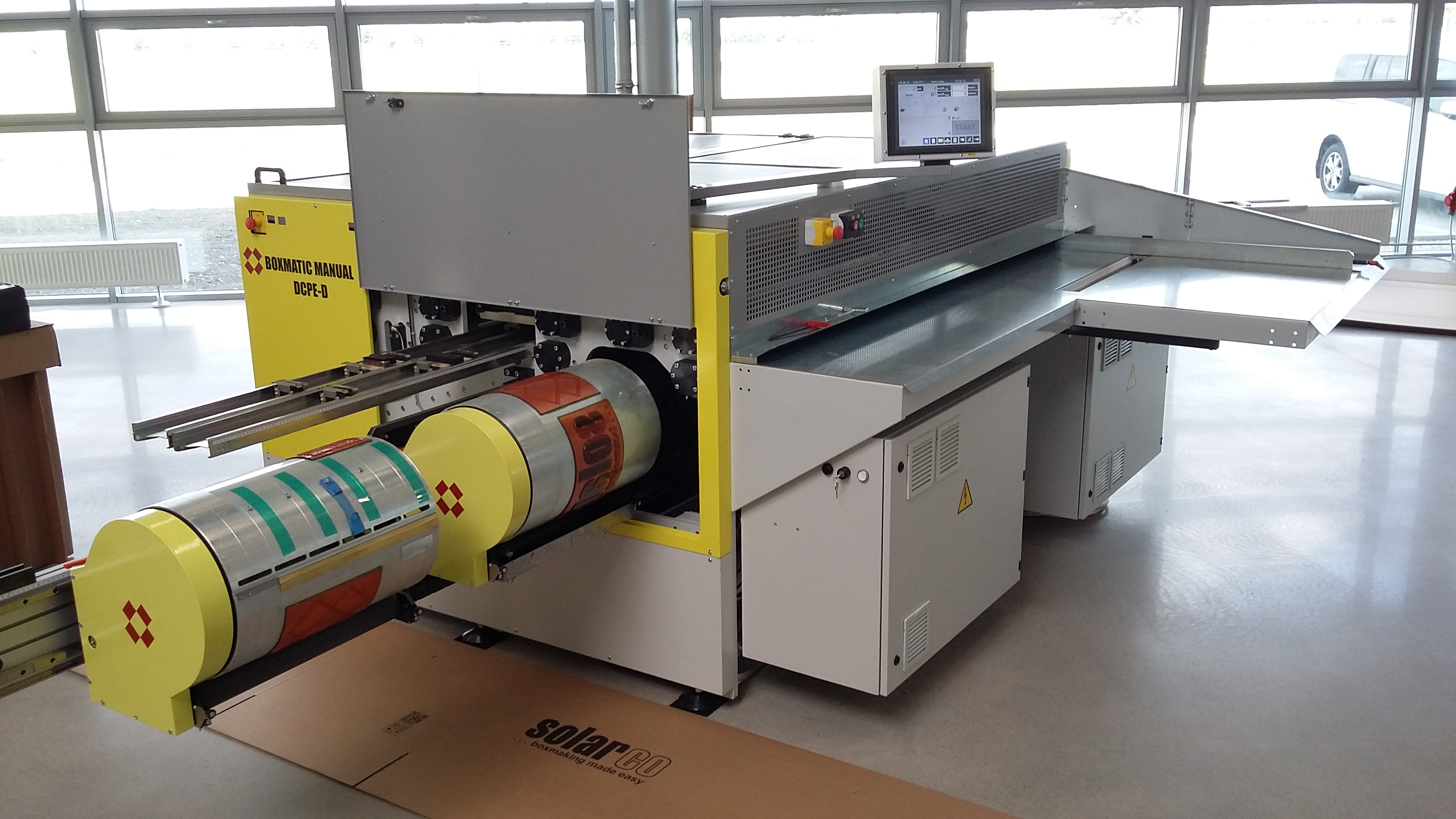 Boxmatic Manual DCFM Doble Troquelado y Cilindros Flexo