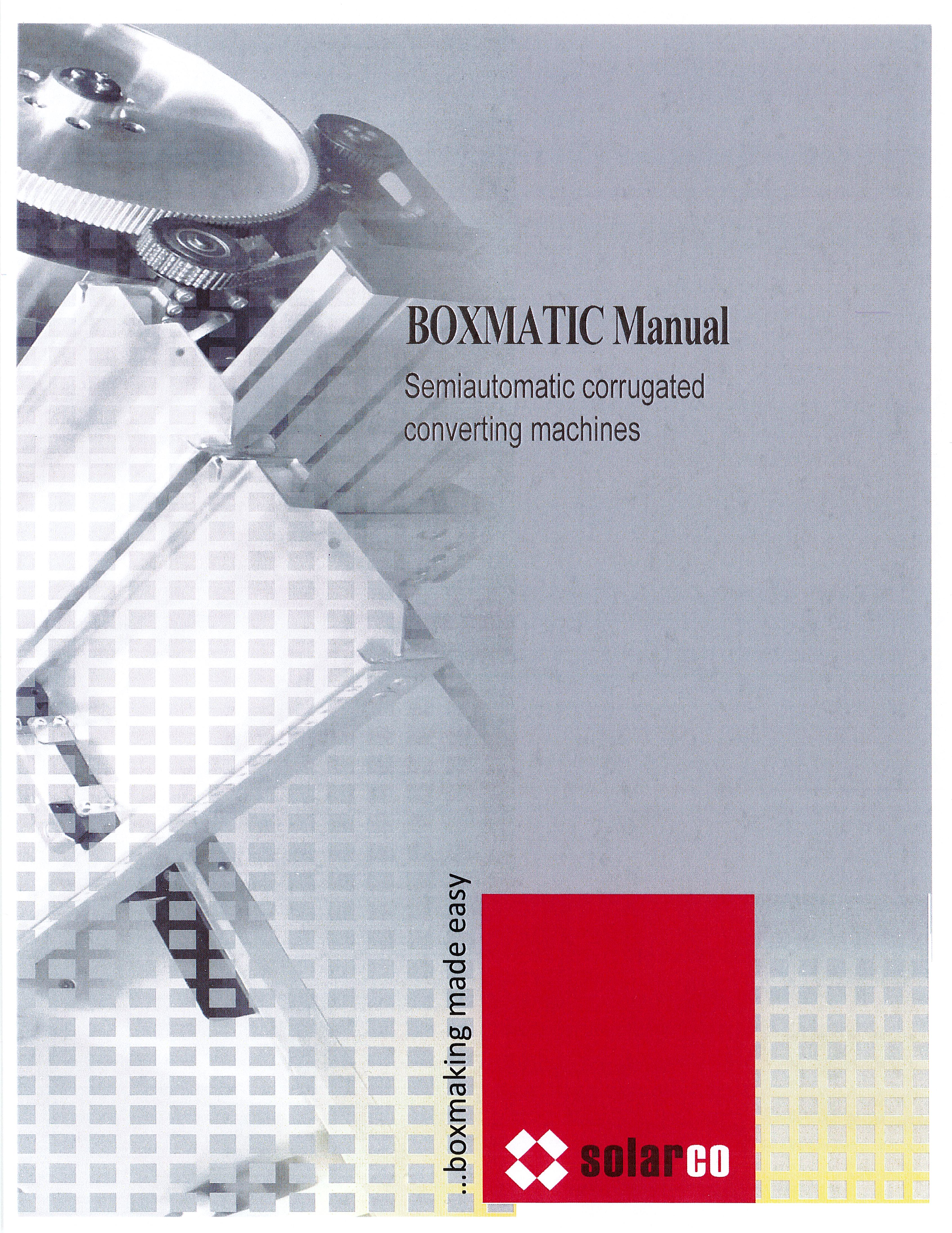 Learn more in the Solarco BOXMATIC Manual brochure